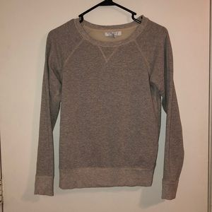 Forever 21 Glitter Gray Sweater with Sheer Back